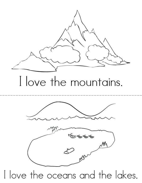 I Love the Earth Mini Book - Sheet 1