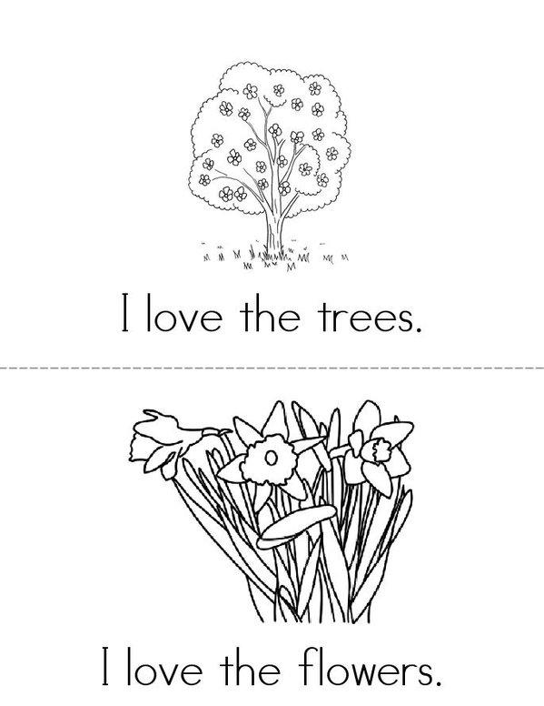 I Love the Earth Mini Book - Sheet 2
