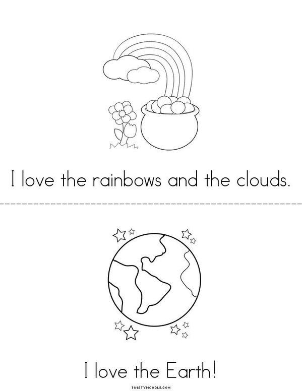 I Love the Earth Mini Book - Sheet 3