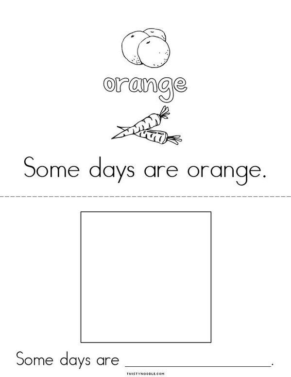 Colorful Days Mini Book - Sheet 3