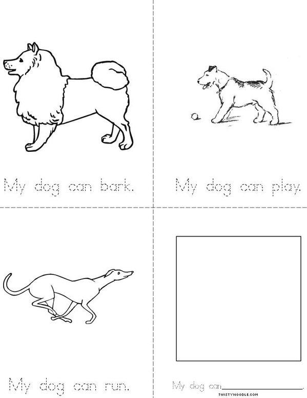 My Dog Can... Mini Book