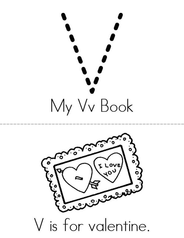 V is for Vacation! Mini Book - Sheet 1