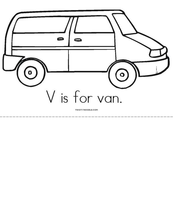 V is for Vacation! Mini Book - Sheet 4