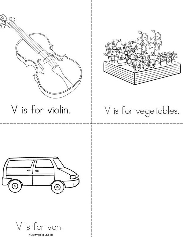 V is for Vacation! Mini Book - Sheet 2