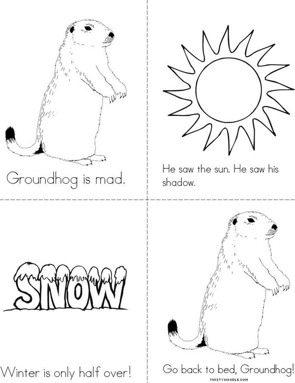 Grumpy Groundhog Mini Book