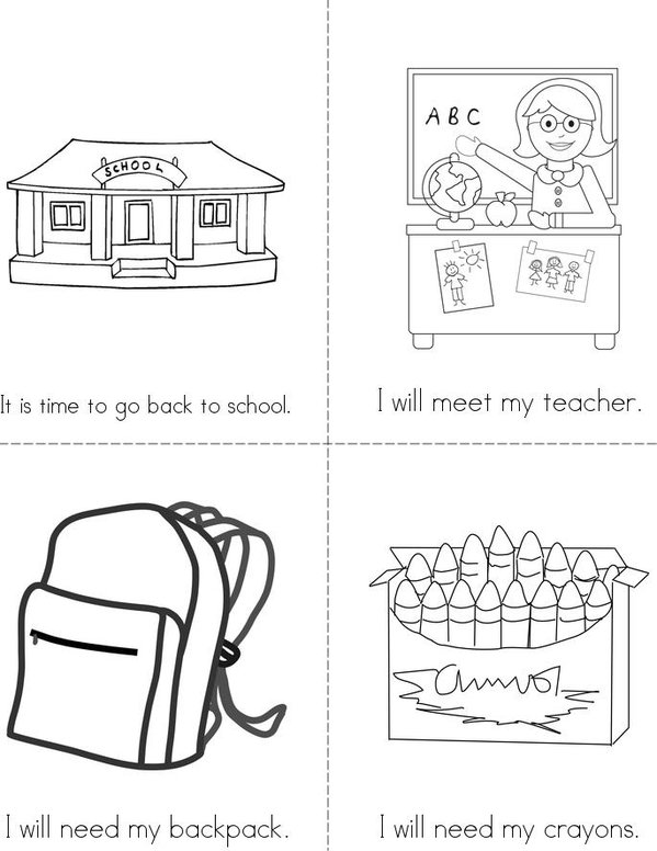 I am ready for school Mini Book