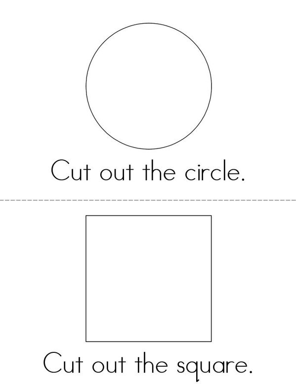 Cut Out the Shapes Mini Book - Sheet 1