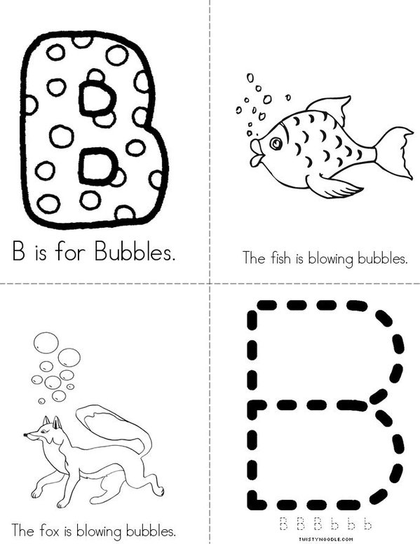 B is for Bubbles Mini Book