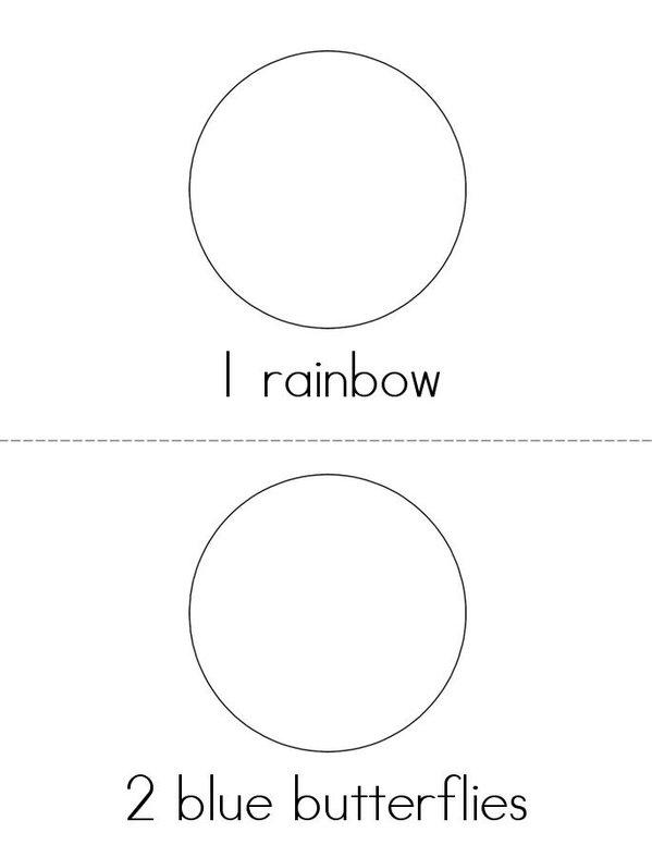 Drawing and Counting Fun Mini Book - Sheet 1