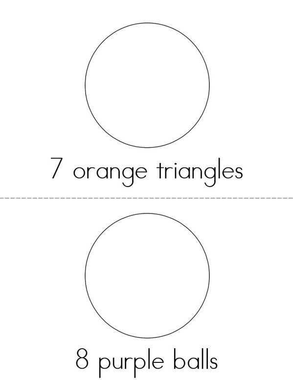 Drawing and Counting Fun Mini Book - Sheet 4