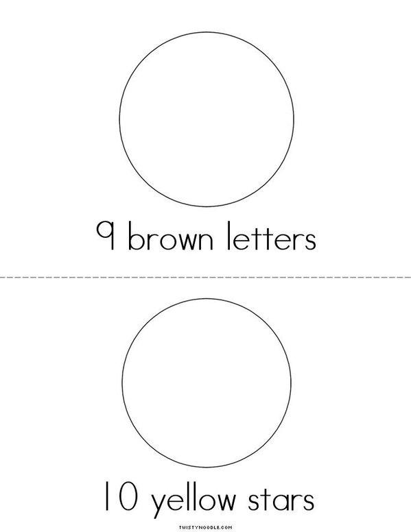 Drawing and Counting Fun Mini Book - Sheet 5