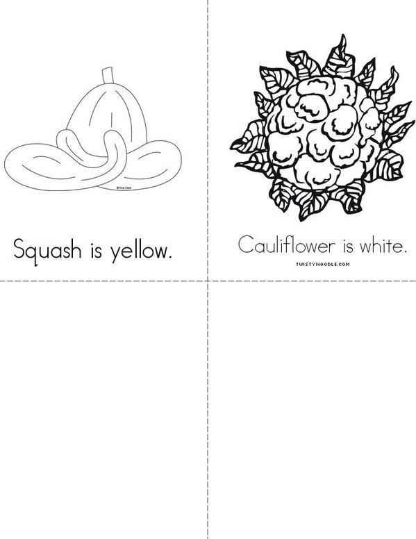 Veggie Colors Mini Book - Sheet 3