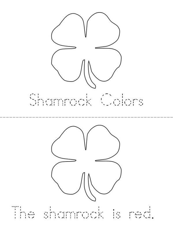 My Shamrock Mini Book - Sheet 1