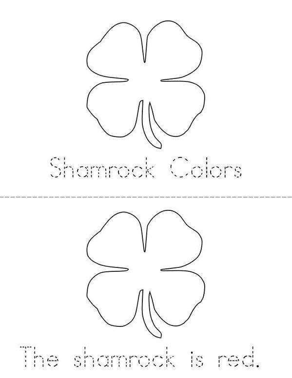 My Shamrock Mini Book - Sheet 1