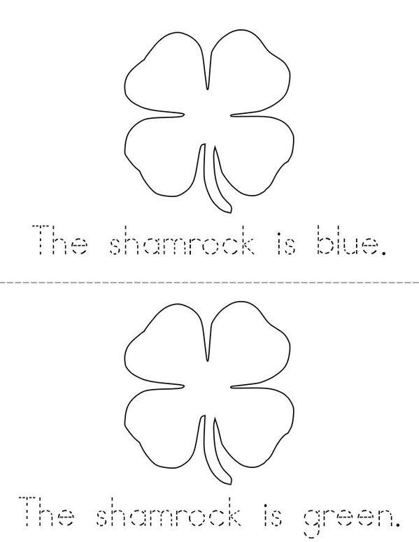 My Shamrock Mini Book - Sheet 2