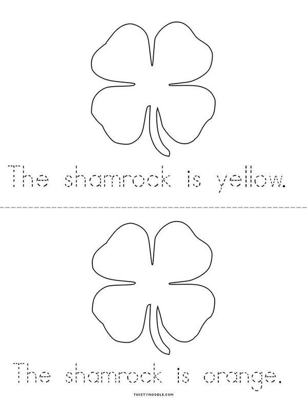 My Shamrock Mini Book - Sheet 3