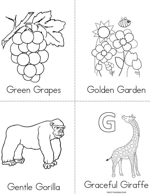 G Adjectives Mini Book - Sheet 2