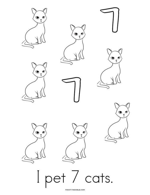 I count 7! Mini Book - Sheet 4