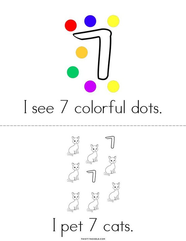 I count 7! Mini Book - Sheet 2