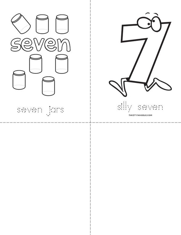 Silly Seven Mini Book - Sheet 2