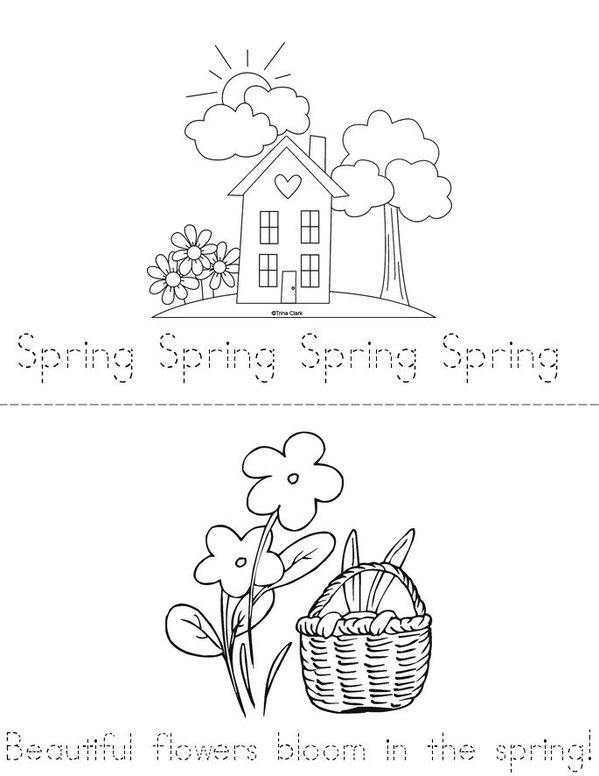 Spring  Mini Book - Sheet 1