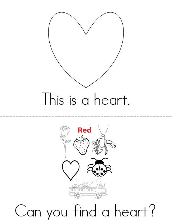 My Heart Mini Book - Sheet 1
