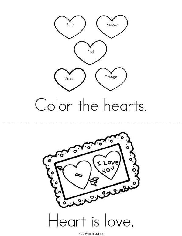 My Heart Mini Book - Sheet 2