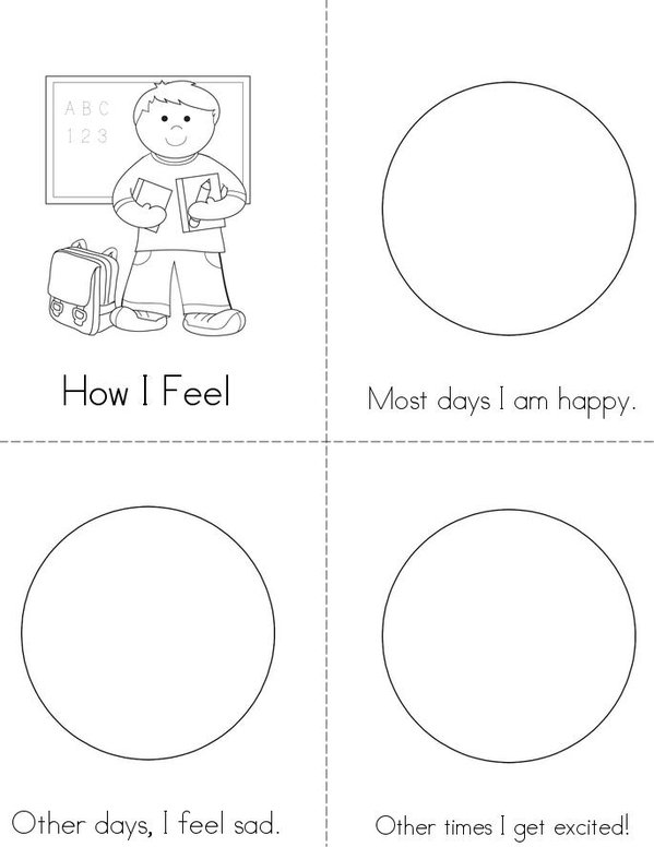 image relating to Feelings Book Printable named Thoughts E book - Twisty Noodle