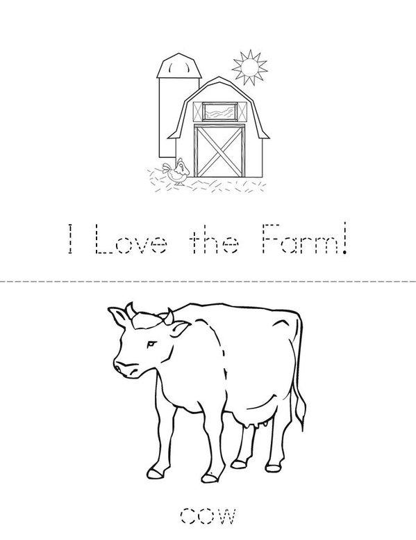 I love the farm! Mini Book - Sheet 1