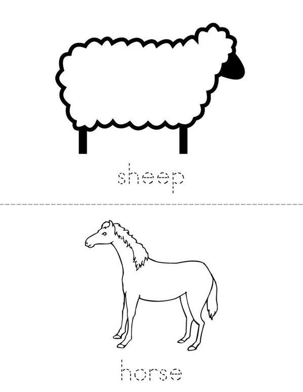I love the farm! Mini Book - Sheet 2