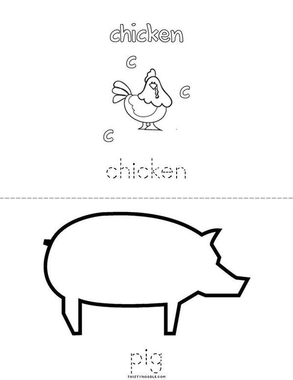 I love the farm! Mini Book - Sheet 3