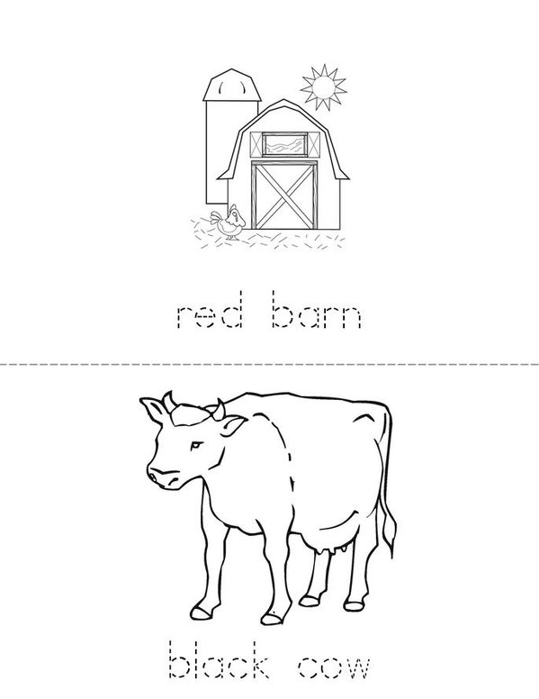 Colorful Farm Mini Book - Sheet 1