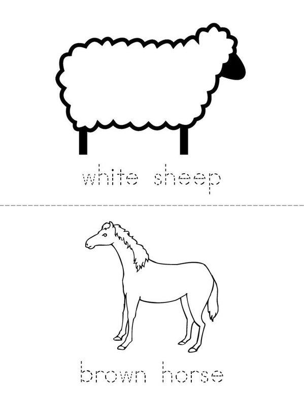 Colorful Farm Mini Book - Sheet 2
