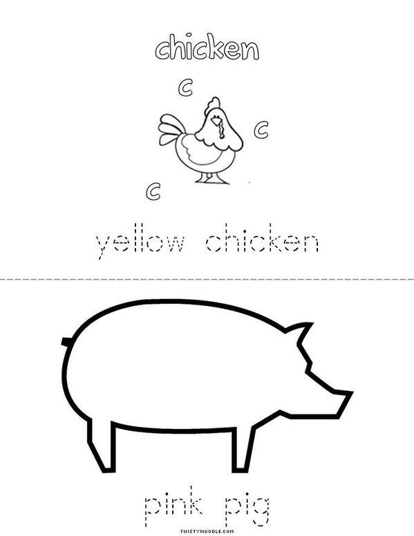 Colorful Farm Mini Book - Sheet 3