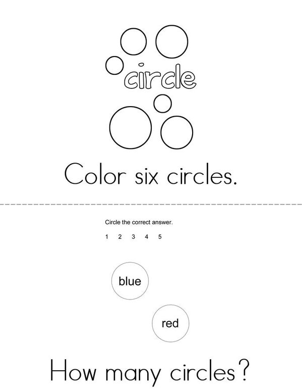 Lots of Circles! Mini Book - Sheet 1