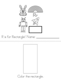 R is for Rectangle! Book