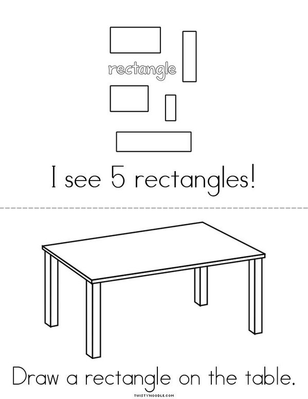 R is for Rectangle! Mini Book - Sheet 2