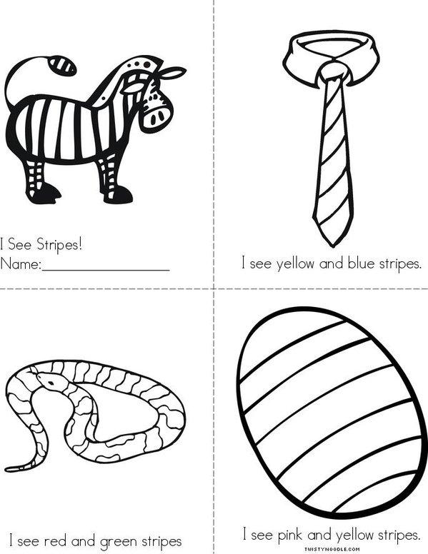 I See Stripes! Mini Book