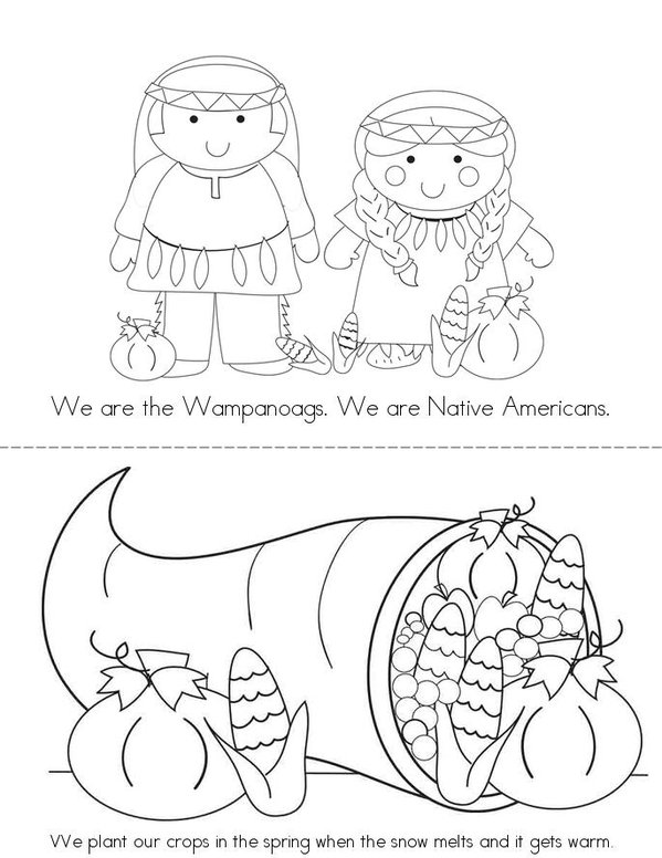We are the Wampanoags Mini Book - Sheet 1