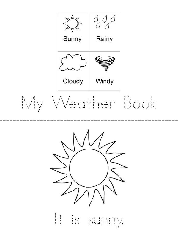My Weather Book Mini Book - Sheet 1