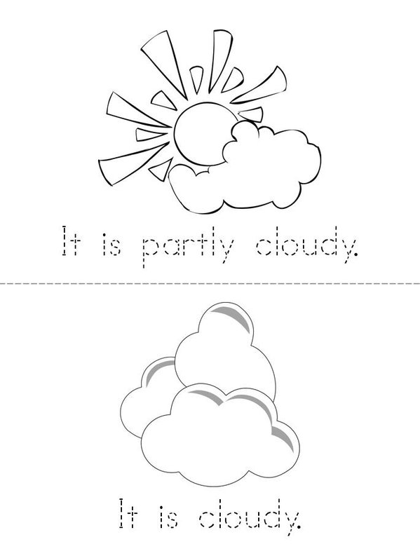My Weather Book Mini Book - Sheet 2