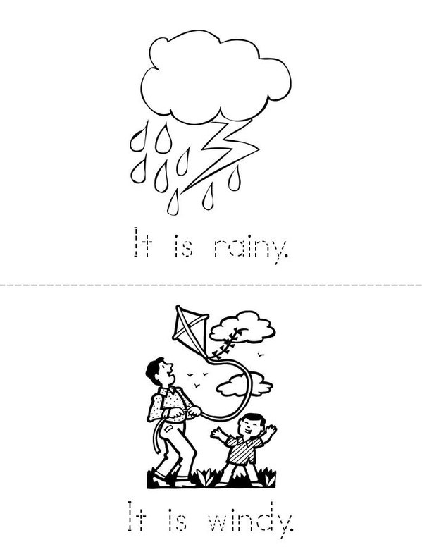 My Weather Book Mini Book - Sheet 3