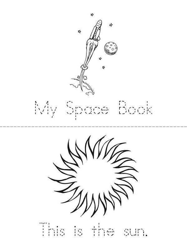 My Space Book Mini Book - Sheet 1