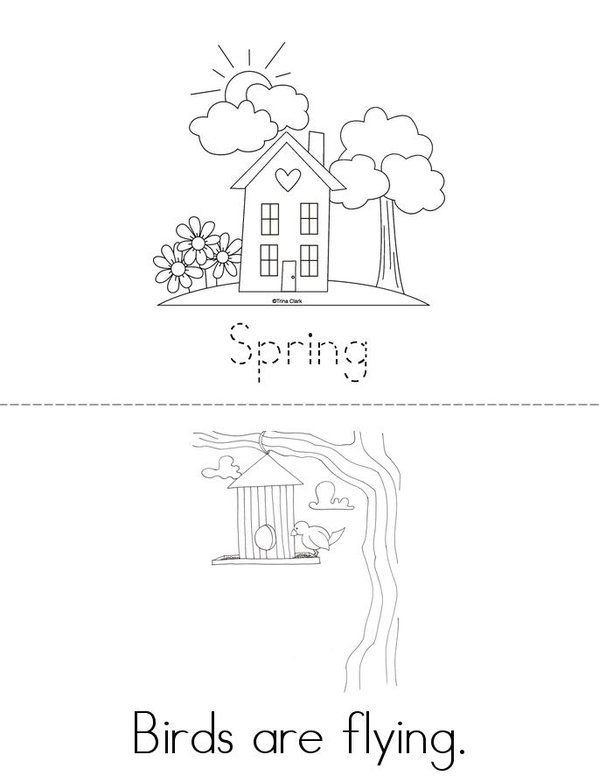 Spring is here! Mini Book - Sheet 1