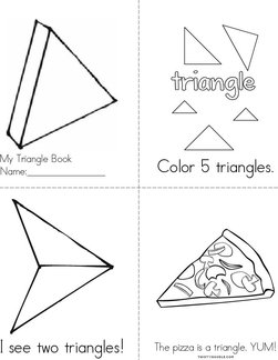 Color the Triangles Book
