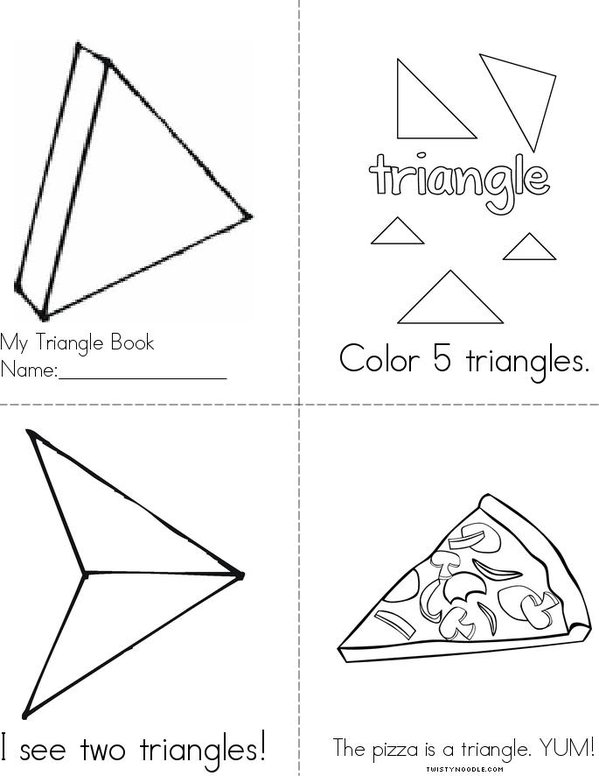 Color the Triangles Mini Book