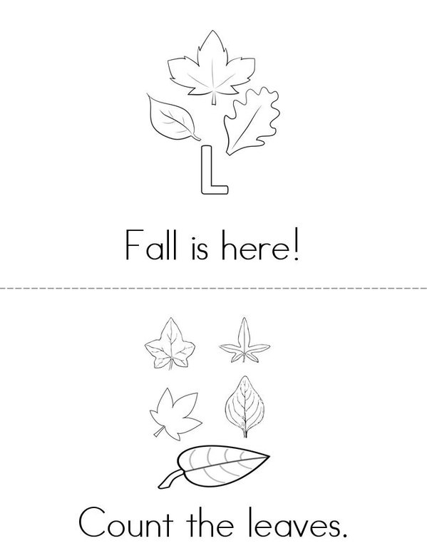 Fall is here! Mini Book - Sheet 1