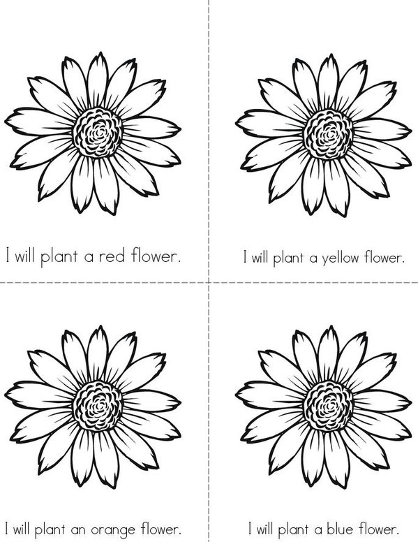 I Will Plant A Flower Mini Book - Sheet 1