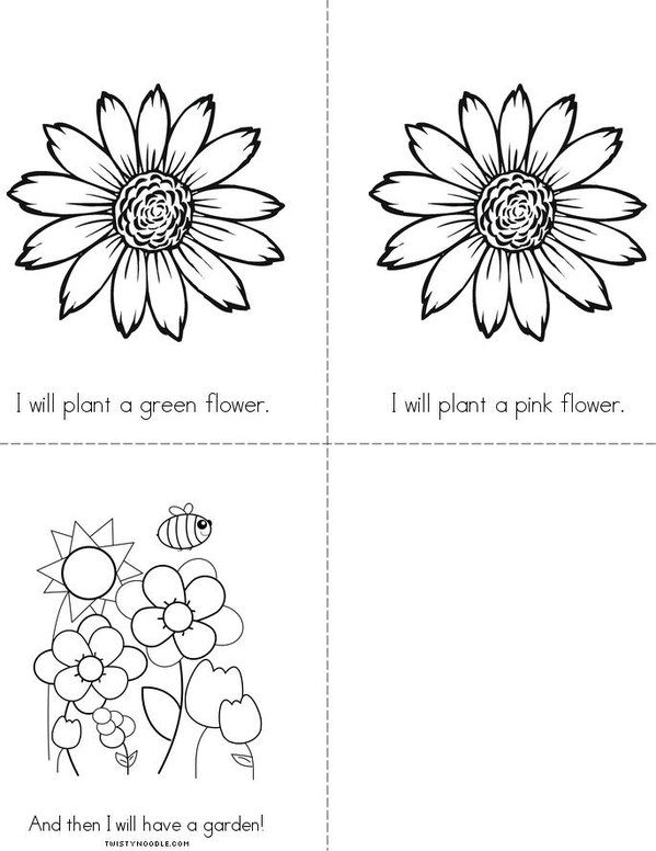 I Will Plant A Flower Mini Book - Sheet 2