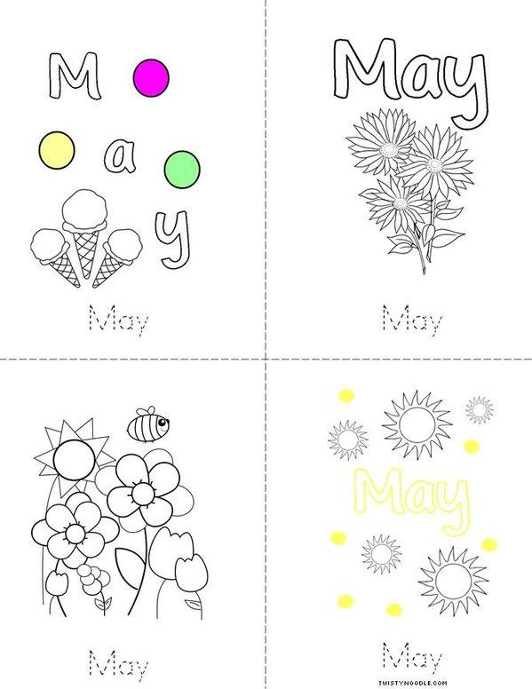 Practice writing May Mini Book
